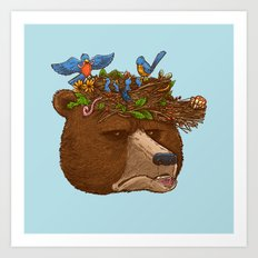 Mr Bear's Nature Hat 2017 Art Print