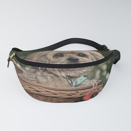 Dog in a Basket Fanny Pack
