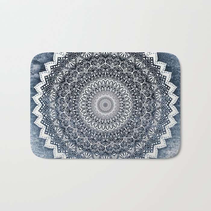 COLD WINTER MANDALA Bath Mat