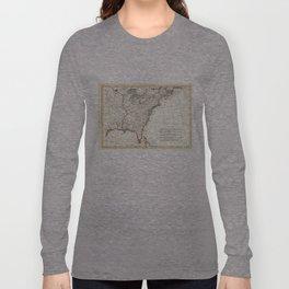 Thirteen Colonies Vintage Map (1776) Long Sleeve T-shirt