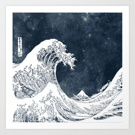The Great Wave of a Star System Art Print