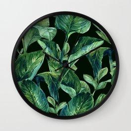 Isolde Leaves Ι Wall Clock
