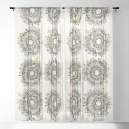 Circle of Life Cream Sheer Curtain