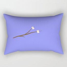 Marshmallows on stick Rectangular Pillow