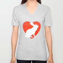 Heart For Rabbits Unisex V-Neck