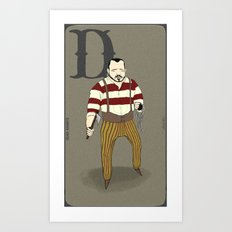 D is for.. Art Print