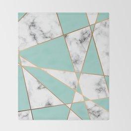 Marble Geometry 055 Throw Blanket