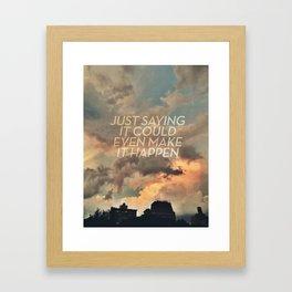 cloudbusting Framed Art Print