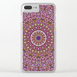 Colorful Spiritual Garden Mandala Clear iPhone Case