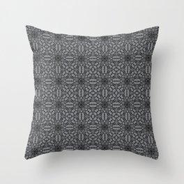 Sharkskin Black Lace Throw Pillow