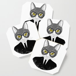 Funny Business Cat Kitten Shirt Gift For Cat And Meow Lovers Coaster