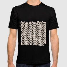 Half Knit Ombre Nat Black MEDIUM Mens Fitted Tee