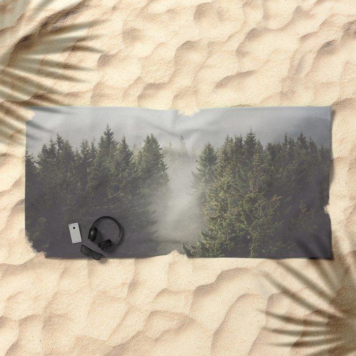 My misty way Beach Towel