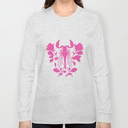 Pink locust of locust Tattoo w roses Long Sleeve T-shirt