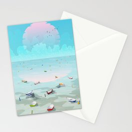 Between two waters Stationery Cards