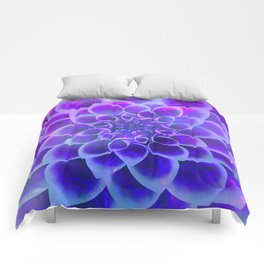 Mindfulness Purple-Pink and Blue Abstract Flower Comforters