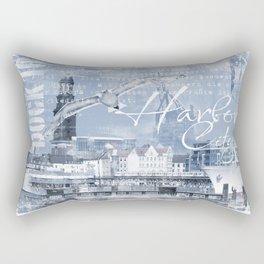 Harbor City Hamburg Germany mixed media Art Rectangular Pillow