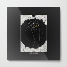 Four of Rings - Tarot Illustration Metal Print