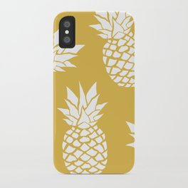 Summer, Tropical, Pineapples, Yellow iPhone Case