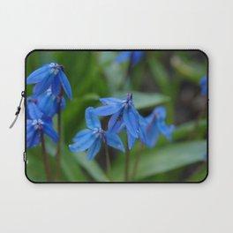 Blue Flowers 1 Laptop Sleeve
