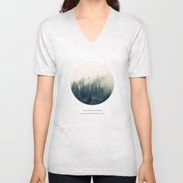Geometric Forest Quote Unisex V-Neck