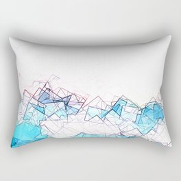 square fantasy blue beach Rectangular Pillow