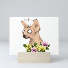 CAT AND MOUSE Mini Art Print