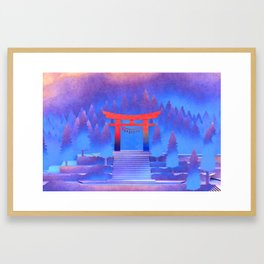 Tengami - Red Gate Framed Art Print