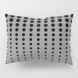 Reduced Black Polka Dots Pattern on Solid Pantone Pewter Background Pillow Sham