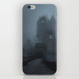 Eerie Castle Eltz in the mist iPhone Skin