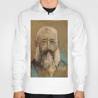 monet Hoodies featuring 50 Artists: Claude Monet by Chad Beroth