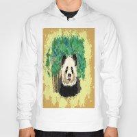 splatter Hoodies featuring Splatter Panda by grapeloverarts