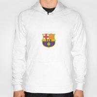 barcelona Hoodies featuring Barcelona by Kesen