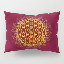 FLOWER OF LIFE, CHAKRAS, SPIRITUALITY, YOGA, ZEN, Pillow Sham