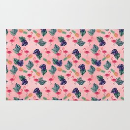 Tropical, Flamingo, Pineapple, Summer Fling Rug