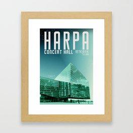 Iceland: Harpa Framed Art Print