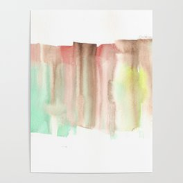[161228] 24. Abstract Watercolour Color Study|Watercolor Brush Stroke Poster