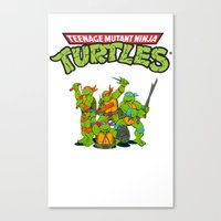 tmnt Canvas Prints featuring TMNT @ by Hisham Al Riyami
