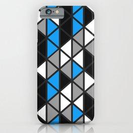 Triangular Vitrail Mosaic Pattern V.08 iPhone Case