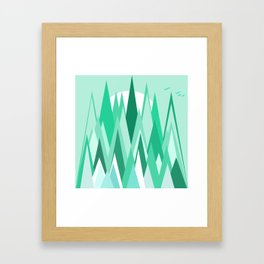 The Frozen Forest Framed Art Print
