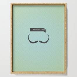 Salvador Dali (Famous mustaches and beards) Serving Tray