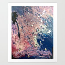 Pink&Silver Art Print