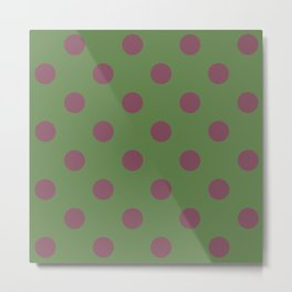Pink and Green Pol Metal Print