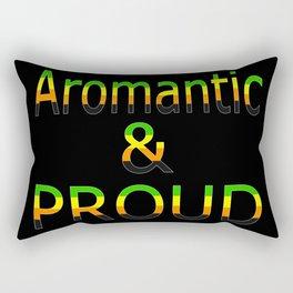 Aromantic and Proud (black bg) Rectangular Pillow