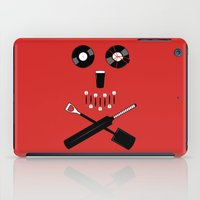 shaun of the dead iPad Cases featuring Shaun of the Dead - Skull by Nick Kemp