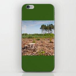 Woods logging one stump after deforestation iPhone Skin
