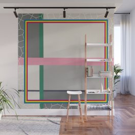 Green line - color square Wall Mural
