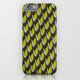 Ultimate Grey Grate Abstract Pattern With Yellow Background iPhone Case