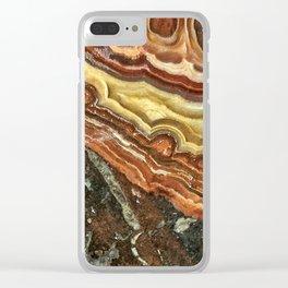 Lace Agate Clear iPhone Case