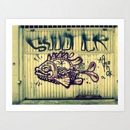 peixe na rua Art Print